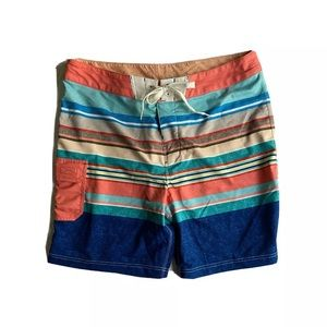Sperry Top Sider Flat Front Swim Board Shorts 38